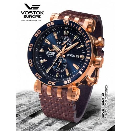 Pánske hodinky Vostok-Europe ENERGIA Rocket chrono line VK61/575B590
