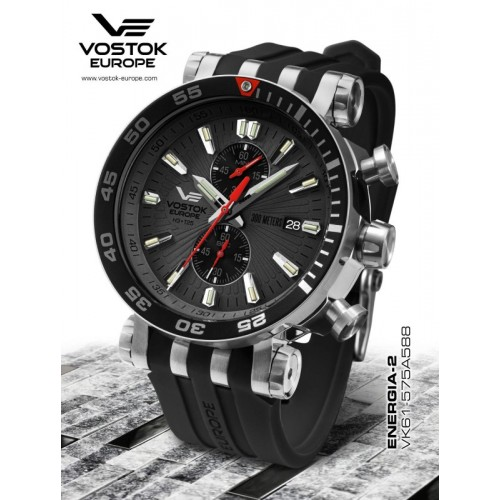 Pánske hodinky Vostok-Europe ENERGIA Rocket chrono line VK61/575A588
