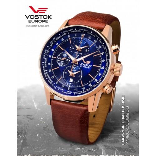 Pánske hodinky Vostok - Europe GAZ-14 world timer/alarm line YM26/5609256