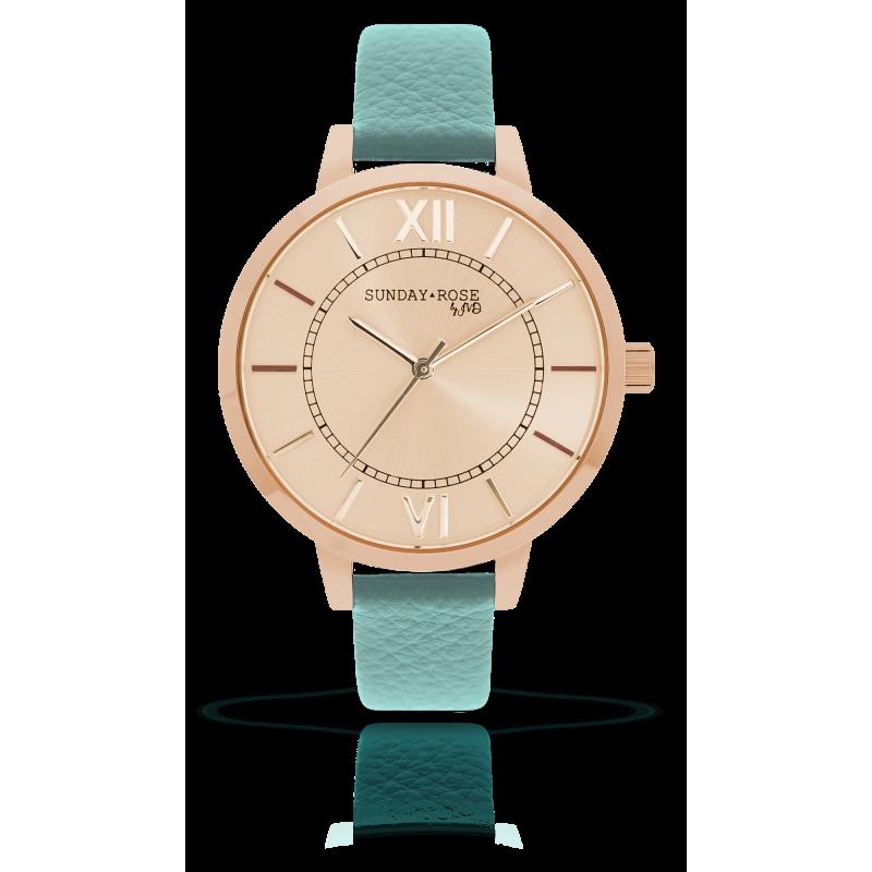 Dámske hodinky SUNDAY ROSE Classic PASTEL GREEN SUN-C04