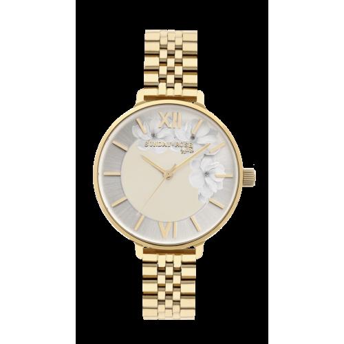 Dámske hodinky SUNDAY ROSE Spirit GOLD SUN-S13