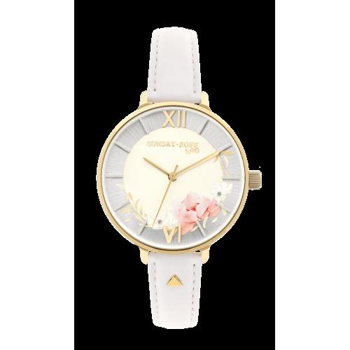Dámske hodinky SUNDAY ROSE Spirit TEA ROSE LEATHER SUN-S15