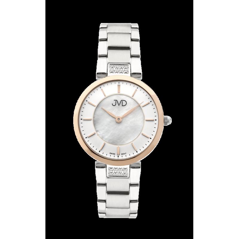 Dámske náramkové hodinky JVD JG1013.2 so švajčiarskym strojčekom