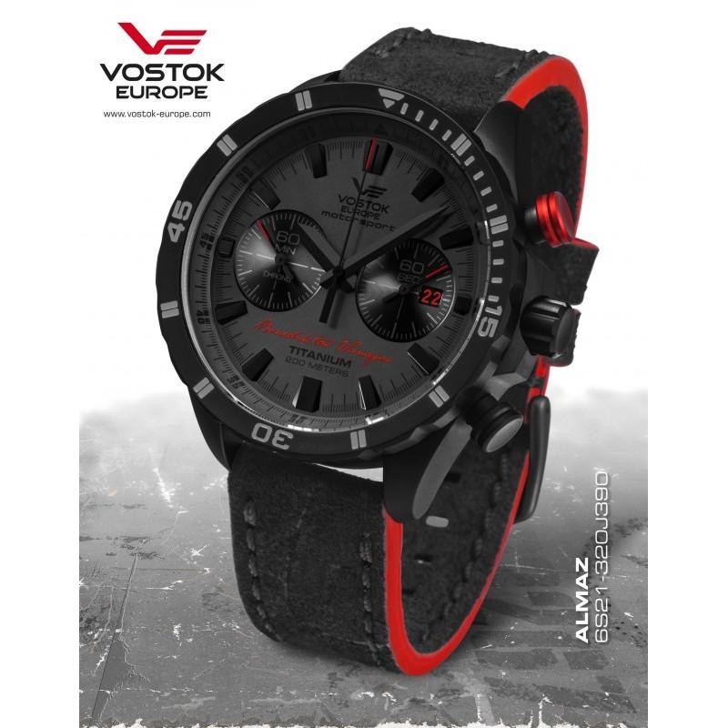 Limitovaná edícia Vostok-Europe BENEDIKTAS VANAGAS black edition 6S21/320J390