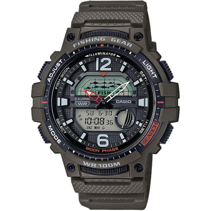Pánske hodinky Casio WSC-1250H-3AVEF Fishing Gear