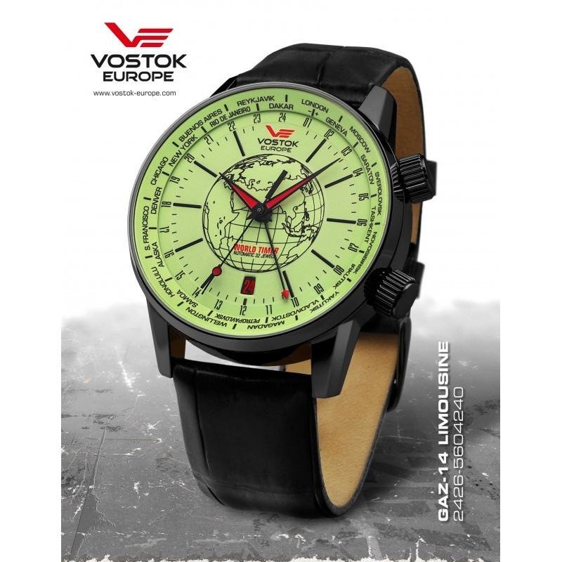 Vostok-Europe GAZ-14 Limouzine World timer line 2426/5604240