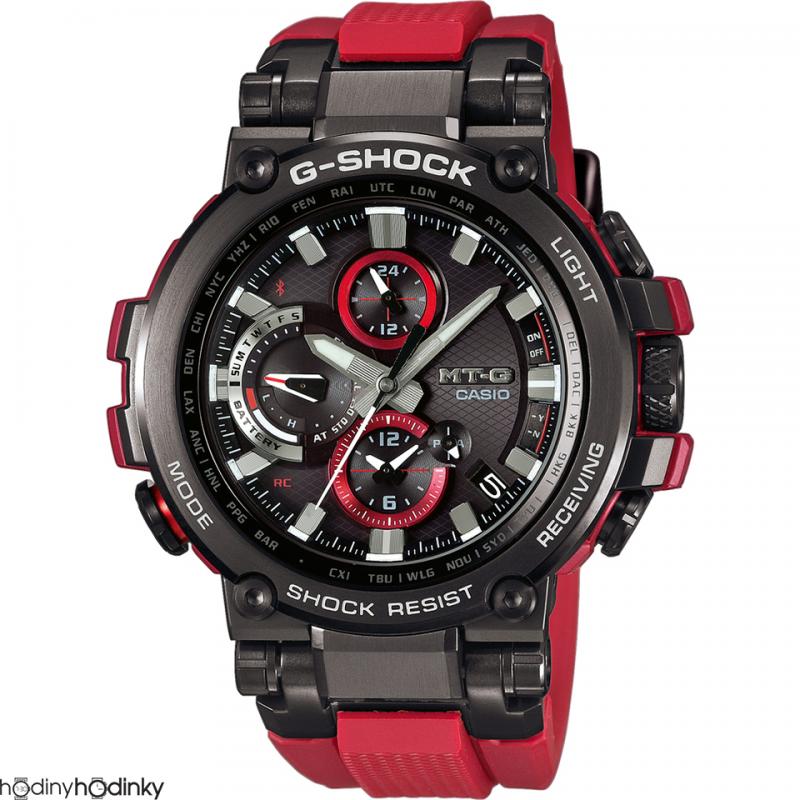 Pánske hodinky Casio G-Shock MTG-B1000B-1A4 Bluetooth Radio Control Solar