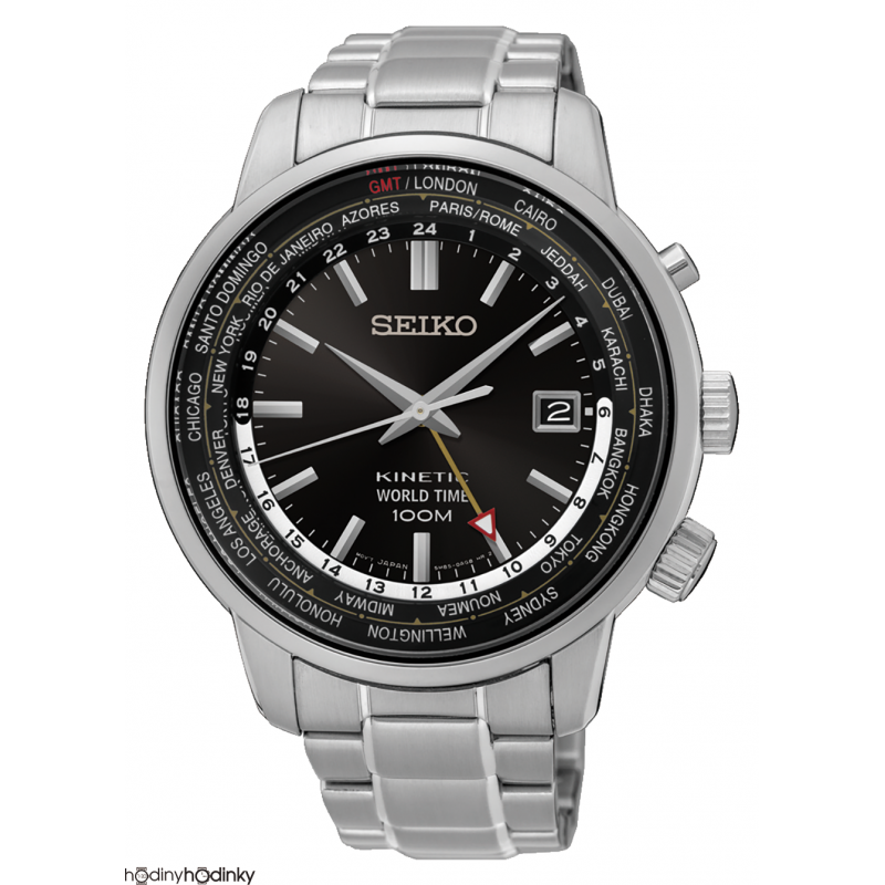 Pánske hodinky Seiko Kinetic SUN069P1 World Time