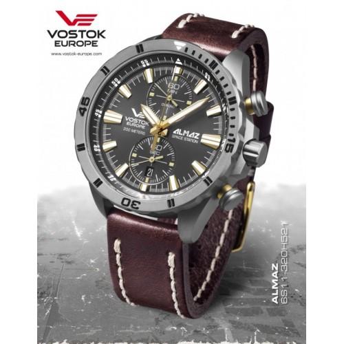 Pánske hodinky Vostok-Europe 6S11/320H521 ALMAZ Titanium