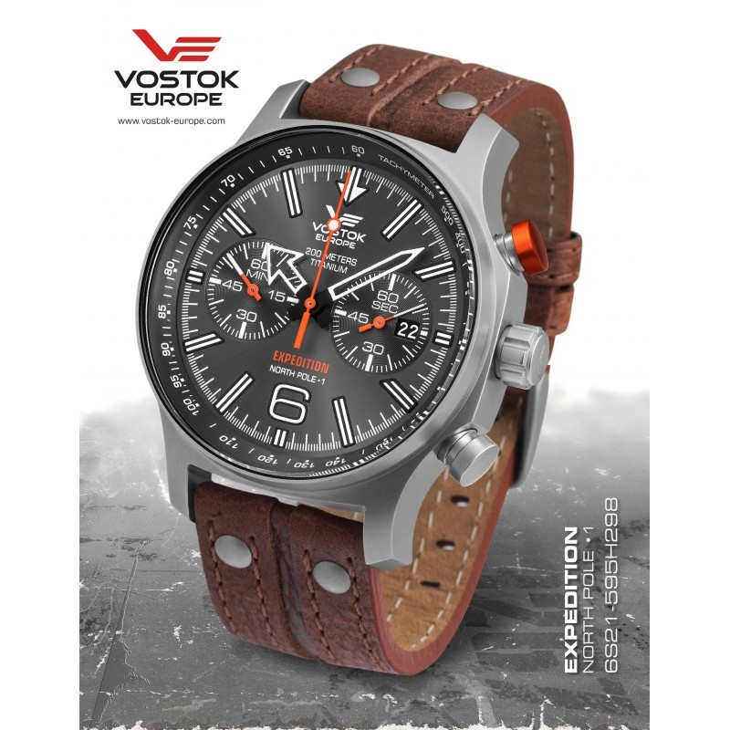 Pánske hodinky Vostok-Europe 6S21/595H298 EXPEDITION NORTH POLE 1 TITANIUM