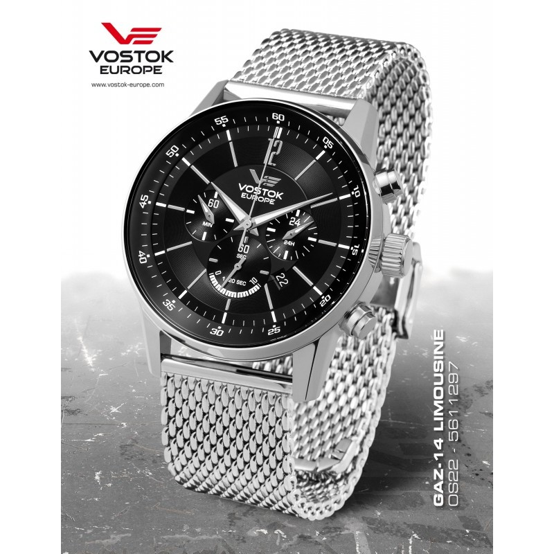 Pánske hodinky Vostok-Europe OS22/5611297B GAZ-14 LIMOUZINE Chronograph