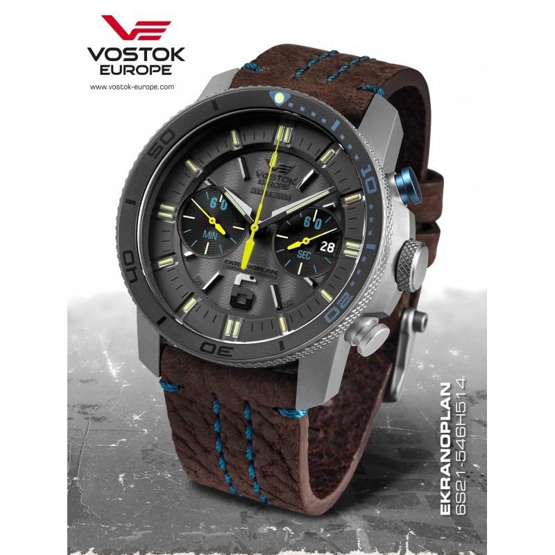 Pánske hodinky Vostok-Europe 6S21/546H514 EKRANOPLAN Chronograph