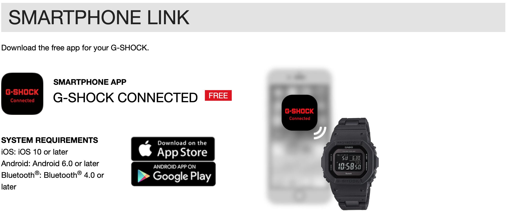 Kompatibilta G-Shock Bluetooth GW-B5600BC