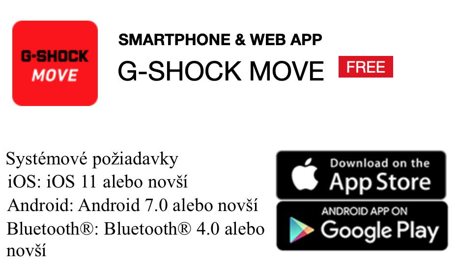 Aplikácia G-Shock MOVE